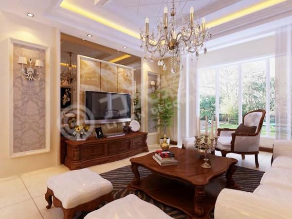 室内多采用带有图案的壁纸、地毯、窗帘、床罩,体现华丽的风格。