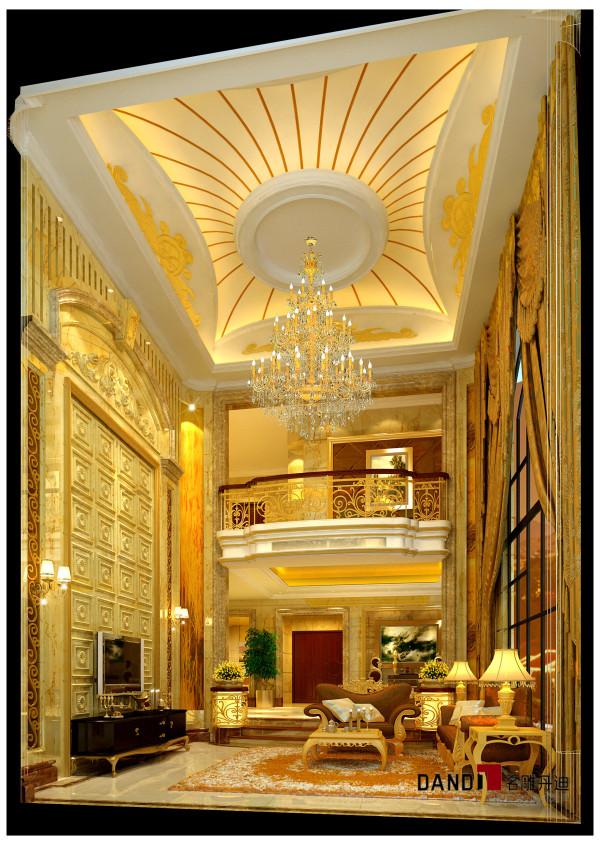 名雕丹迪设计——御泉山别墅——欧式风格——客厅