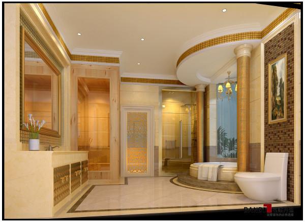 名雕丹迪设计——御泉山别墅——欧式风格——主卧卫生间