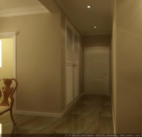 为表达出业主高贵、素雅、低调、浪漫的生活情趣设定了白色混油门窗,突出素雅色调,配合浅咔色墙面,在居室中营造宁静、安详的氛围
