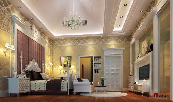 名雕丹迪设计—-世纪新城别墅-主人房