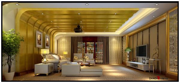 名雕丹迪设计——御泉山别墅——欧式风格——影音室