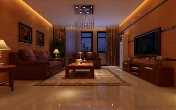 客餐厅部分墙面采用饰面板和玫红色不锈钢装饰条镶嵌制作,增加墙面的品质感,同时横向装饰条和勾缝的设计将电视墙变得更加修长和整体,同时电视墙和餐厅墙面的设计相互呼应,增加客餐厅之间的整体感