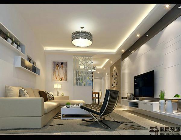 鼎宸装饰经典之作——简单而不是优雅的客厅