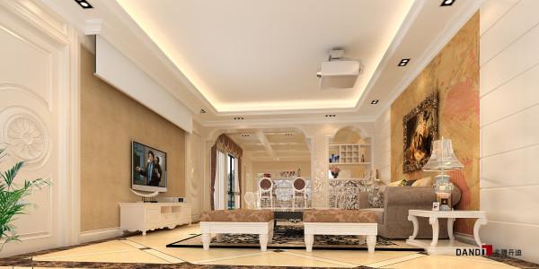 名雕丹迪设计——万科城御水湾别墅--简欧风格--地下室
