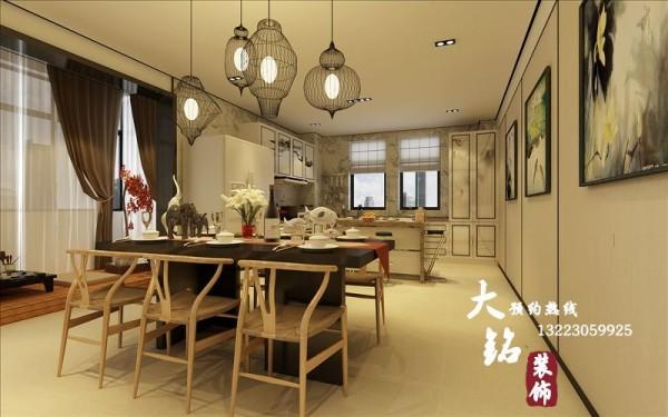 普罗旺世新中式风格复式楼设计-郑州复式楼装修