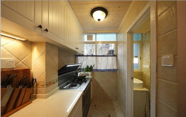 厨房里的简单装修,是田园风格。