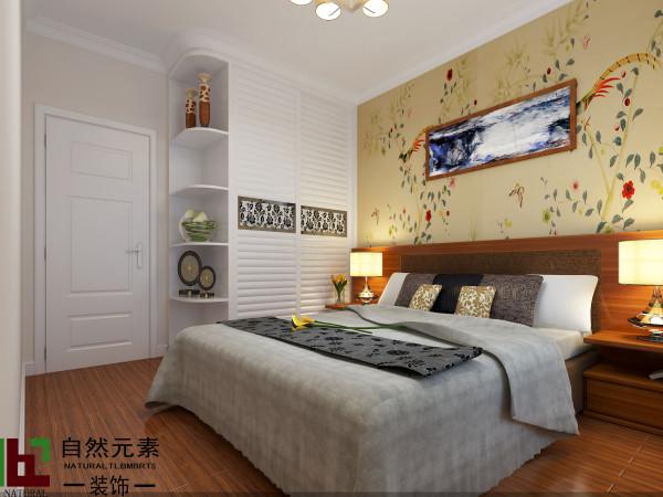 舒适的木地板,1.8米的大床,到顶的衣柜,足够的活动空间,简单,一样颇有艺术气息,最适合老人。