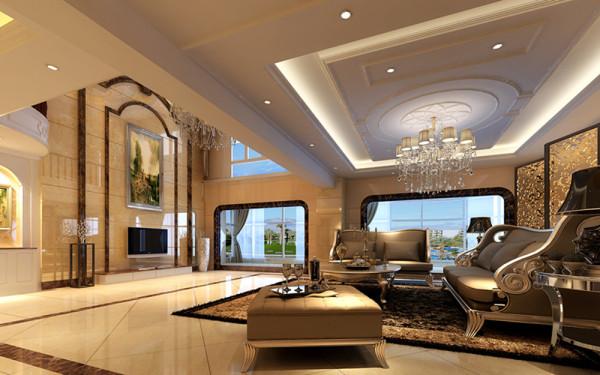 复式楼装修 欧式风格 跃层装修 黄海龙 客厅图片来自实创装饰