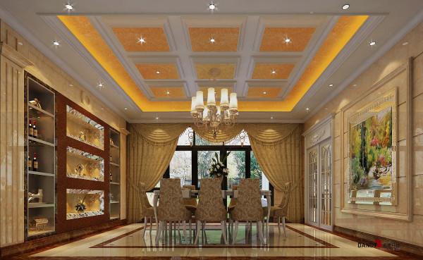 名雕丹迪设计-葡萄庄园别墅-欧式风格餐厅