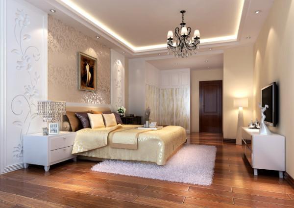 舒适宽敞卧室 卧室首先应该是一个私密性质较强的空间,再者要具备静谧舒适之功能,又不能缺失大户型该有的宽敞、轻松。
