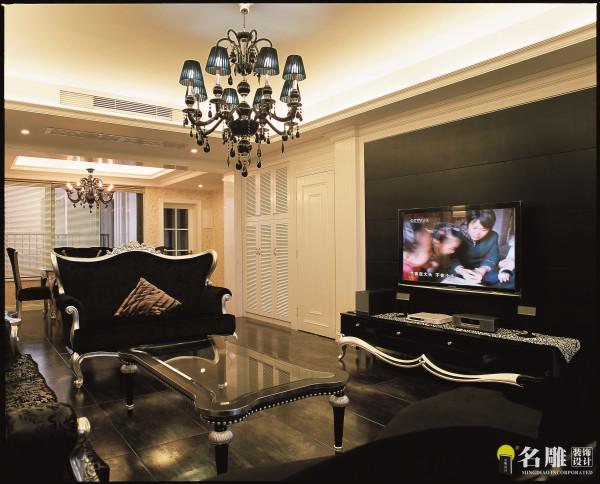 名雕装饰设计-珑园二居室-简欧风格-客厅