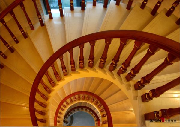 名雕丹迪设计-集信名城别墅-楼梯: