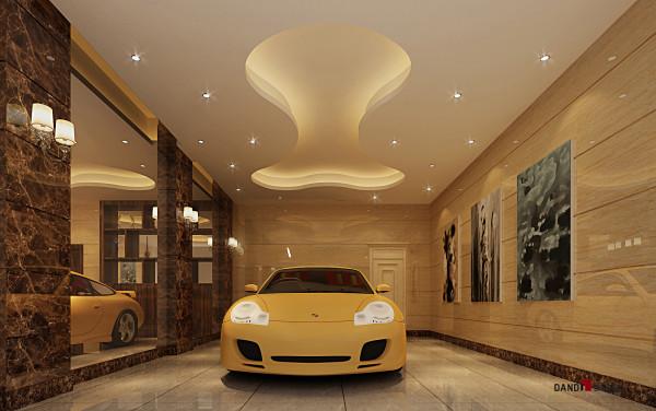 名雕丹迪设计-葡萄庄园别墅-欧式风格地下车库