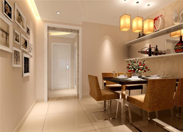 餐厅空间位于客厅及走道之间,起到承上启下的作用,整体色调自然衔接过渡,隔板设计增加摆设和储物,茶镜设计与客厅遥相呼应。亮点:茶镜的整体运用,让狭长的空间扩大话,照片墙的设计温馨的记录小两口的点点滴滴。