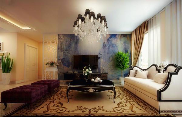 郑州实创装饰-大河龙城90平两居室-电视背景墙