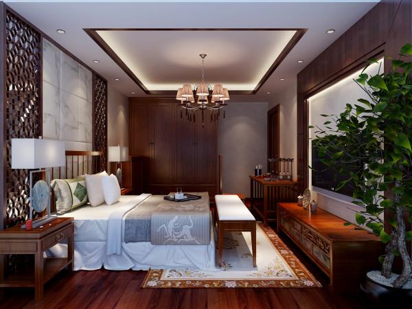 卧室 无丝竹之乱耳,无案牍之劳形 设计理念:卧室空间因其使用的特殊性,要求更沉稳且幽静,使主人休憩更舒适。