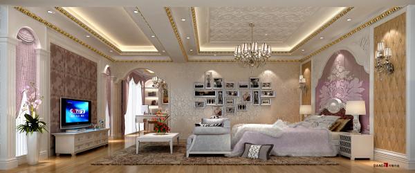 名雕丹迪设计-长安四季豪园别墅-欧式主人房