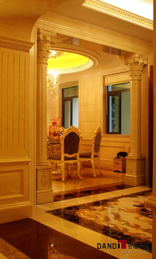 名雕丹迪设计-集信名城别墅-古典欧式餐厅