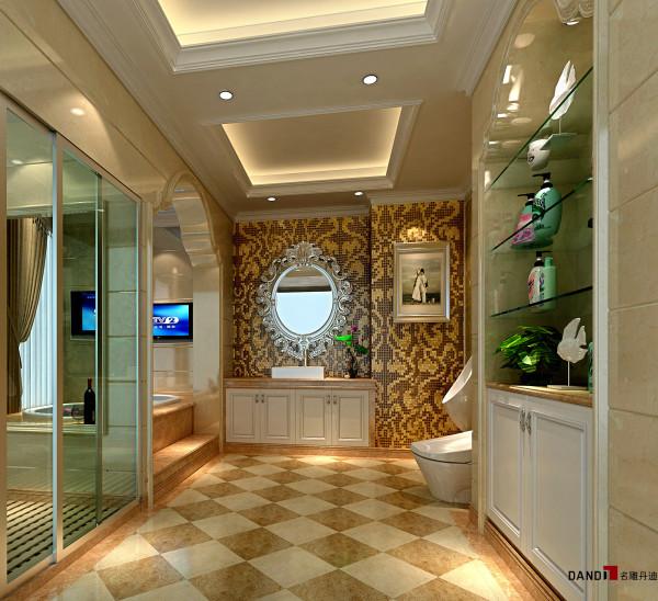 名雕丹迪设计-长安四季豪园别墅-欧式主卫