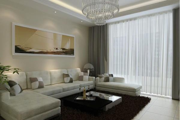 客厅作为待客区域,一在整体的设计上运用了石材与镜面,让整个中心区不在单调,布艺沙发让整个空间充满温馨,简约多造型让整个家变多简约而不简单。