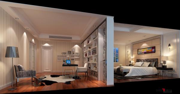 名雕丹迪设计-三正半山别墅-现代简约主人房