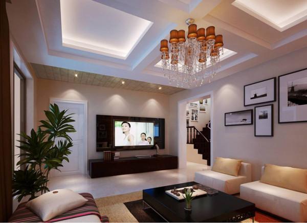 客厅是一个连接内外沟通感情的主要场所,是最能体现业主生活品味和情调的地方,设计通过颜色的整体搭配和独特的造型突出现代简约的风格,