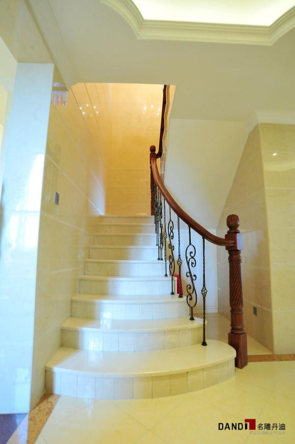 名雕丹迪设计-锦绣花园别墅-简欧风格楼梯