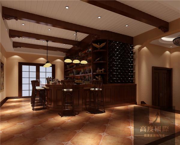 地下吧台       本设计根据业主需求、喜好与设计师对整个小区风格的把控,设计风格定为欧式风格 香江别墅案例,整套风格理念中融入了大量的欧式元素。