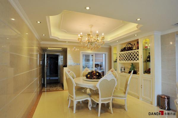 名雕丹迪设计-锦绣花园别墅-简欧风格餐厅