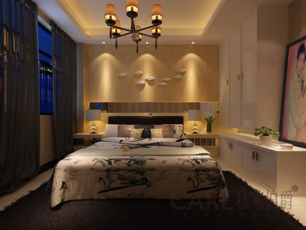 卧室采用一种原木色的设计,没有其他五颜六色的渲染,有的是契合自然的生态木质感受。