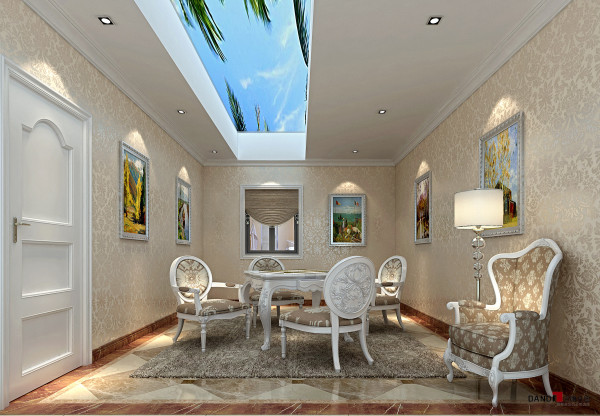 名雕丹迪设计-长安四季豪园别墅-麻将房