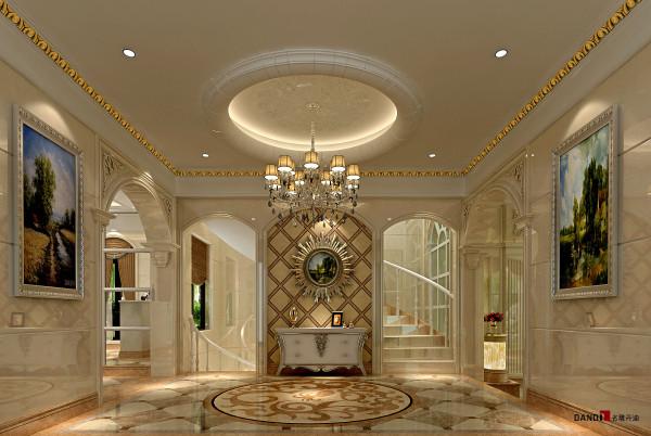 名雕丹迪设计-长安四季豪园别墅-欧式玄关
