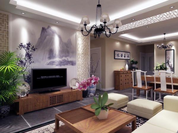 郑州实创装饰-建业贰号城邦140平四居室-电视背景墙