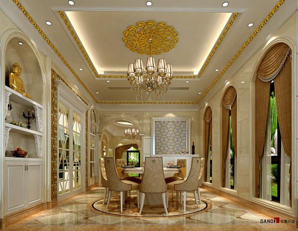 名雕丹迪设计-长安四季豪园别墅-欧式餐厅