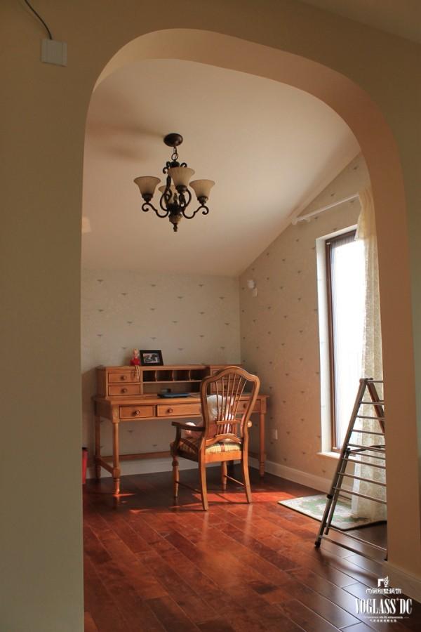 尚层装饰别墅设计之天恒别墅山美式田园风格,书房设计