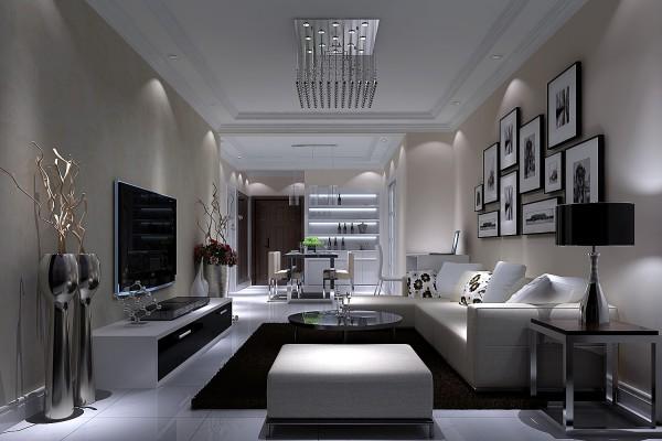 整体的设计采用了白色、米色、灰色,结合了灯光的结合,给人感觉是很舒服的;