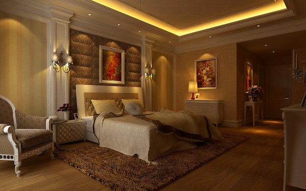 整个空间弥漫着奢华与浪漫的气氛,使生活更富有情趣。
