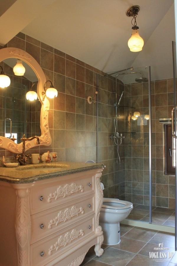 尚层装饰别墅设计之天恒别墅山美式田园风格,卫生间设计