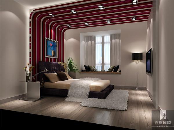 次卧,设计线条简约流畅,家具色彩对比强烈,这是现代风格家具的特点。
