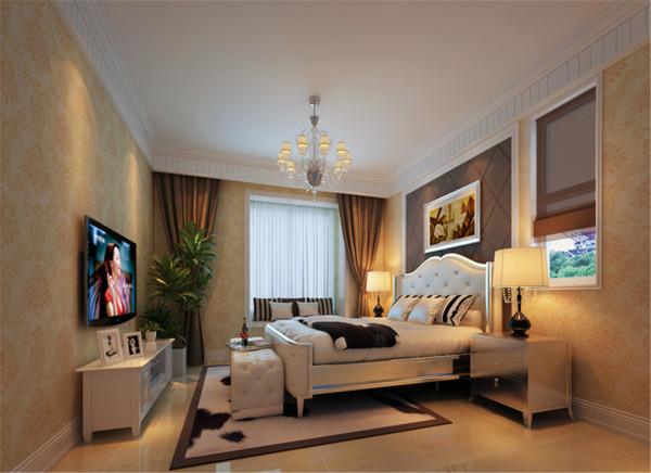 设计理念:主卧室业主一天最后的休息场所,温馨浪漫,能使业主得到更好的休息,解除一天的疲劳,舒适的睡眠,使第二天的工作充满激情。