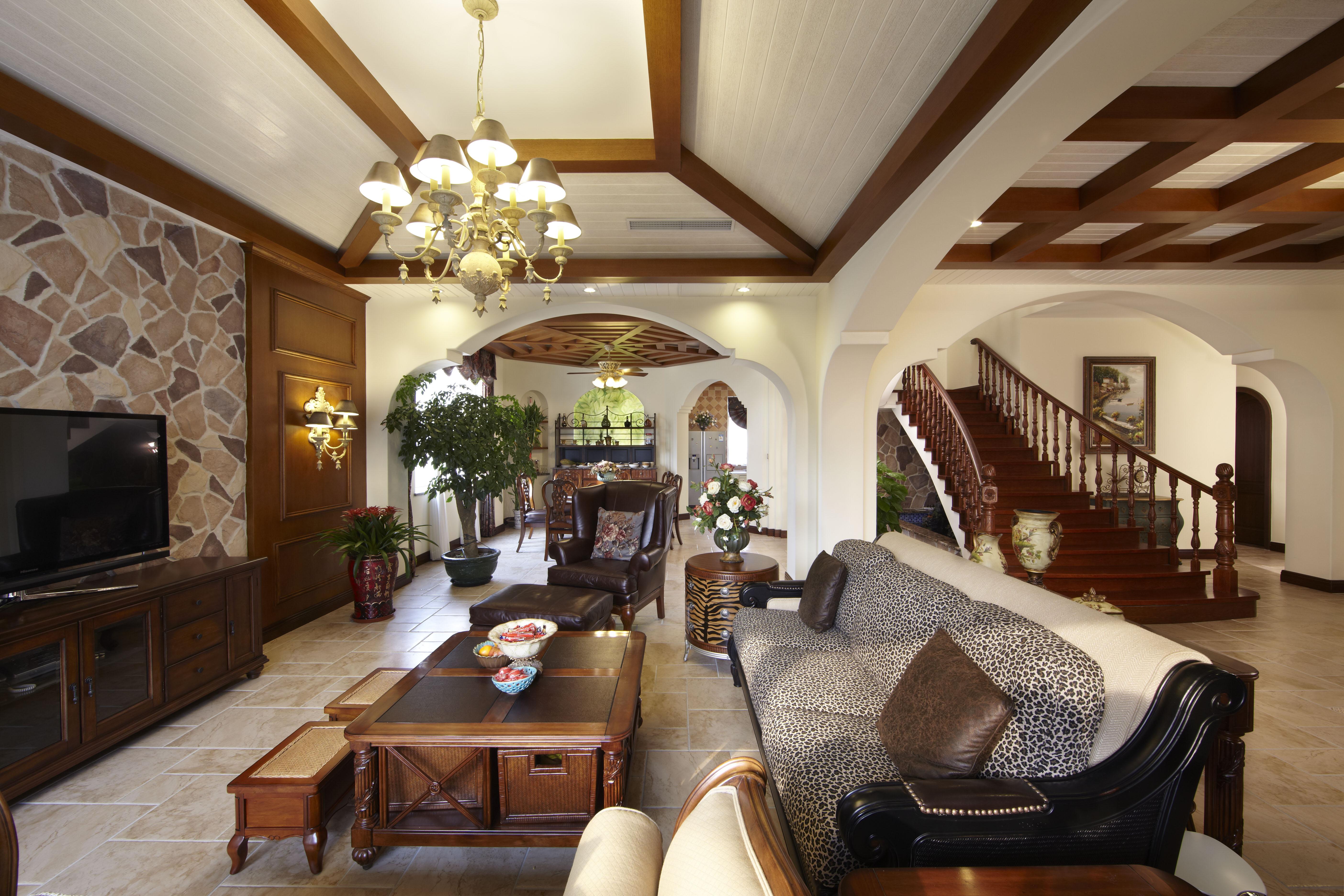 客厅熙顺景元洲装饰美式别墅别墅装修客厅设计装饰乡村设计大学什么是villa别墅图片