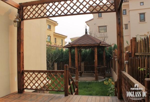 尚层装饰别墅设计之天恒别墅山美式田园风格,厅院设计