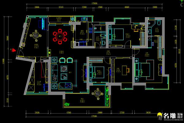 淘金山三居室户型图