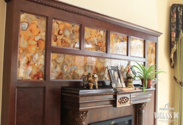 尚层装饰别墅设计之天恒别墅山美式田园风格,壁炉设计