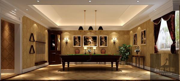 活动区 设计师根据业主的喜好以及空间的布局选择了欧式风格,欧式风格强调以华丽的装饰、浓烈的色彩、精美的造型达到雍容华贵的装饰效果。现代欧式的居室有的不只是豪华大气,更多的是惬意和浪漫