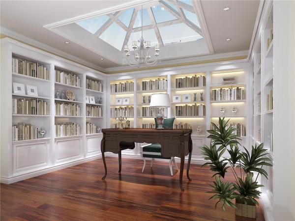 主卧和书房打造成了套间的结构,由于是新搭的楼板担心承重,所以没有在书房内放太多的书柜,博古架作为卧室和书房的过度,整个房间书香气十足。