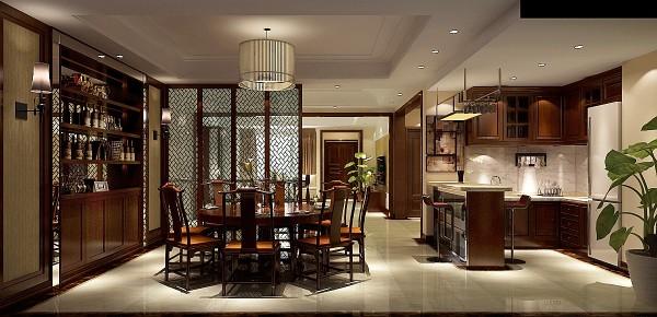 8哩岛现代中式风格别墅——餐厅效果图.图片