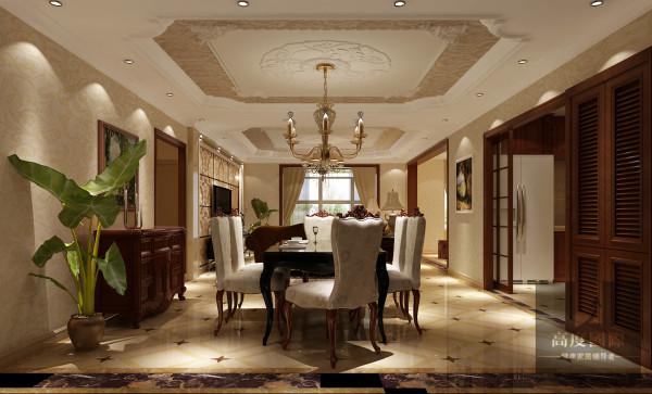 本设计遵循业主喜好,多处运用石材及软包,增添居所的奢华感。且茶色镜面的运用,使整体屋室视觉上显得更加拉伸。综合考虑屋室居住人口数量和生活习性,空间布局的开阔及顶面造型选择,均结合房屋空间。