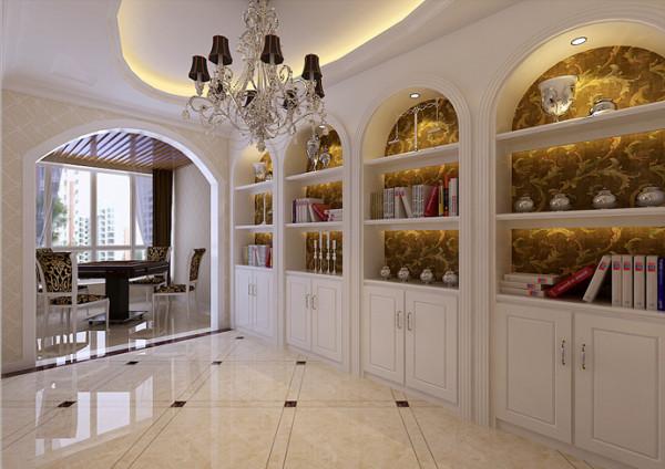 客厅与休闲阳台之间的窗户改为弧形门洞,与整个设计风格非常搭配,阳台作为休闲区域,可以作为茶室。 美观又实用。
